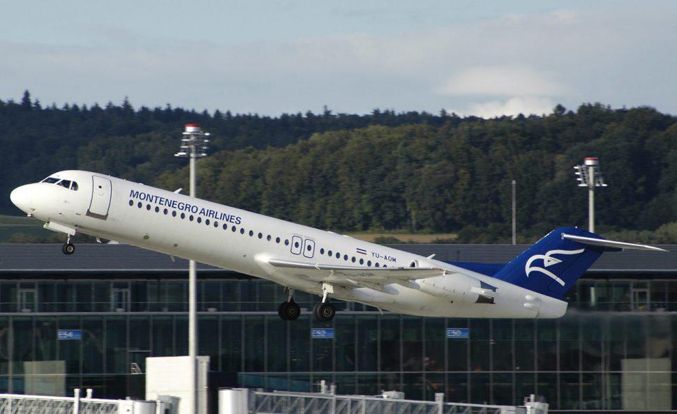 yu aom montenegro airlines fokker f100 PlanespottersNet 088249 e1463984267453