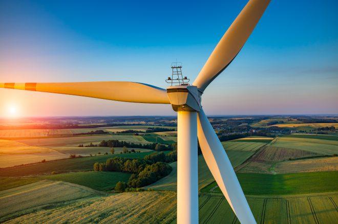 Wind Turbine at Sunset e1472644582950
