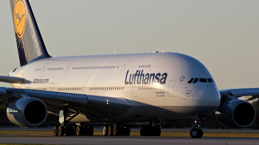 Lufthansa Airbus A380 First Time Visit to Sofia