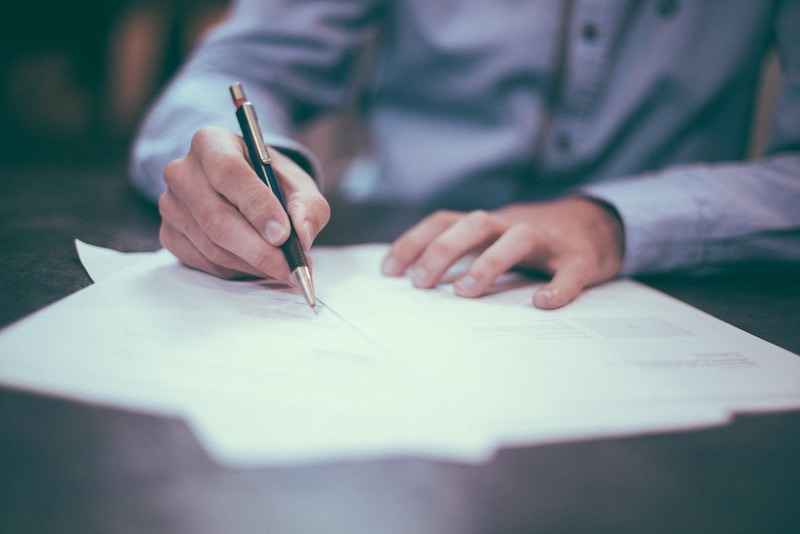 sign document signature legal insurance health life