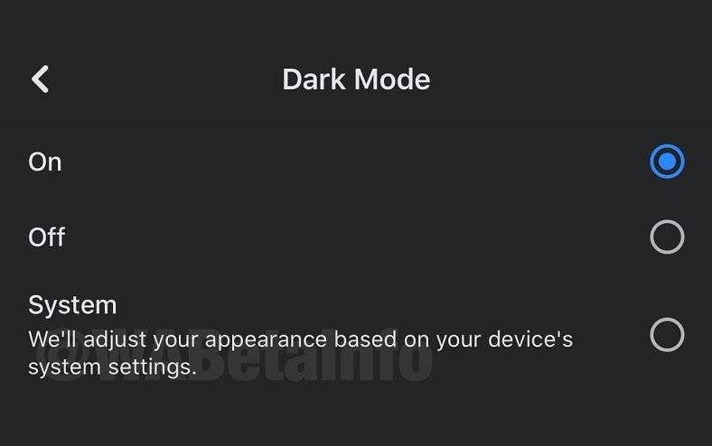 facebook un ios versiyasina dark mode gelir649