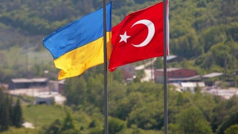 Ukrayna Türkiye Bayrağı