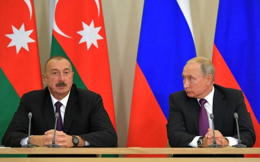 putin və ilham Əliyev