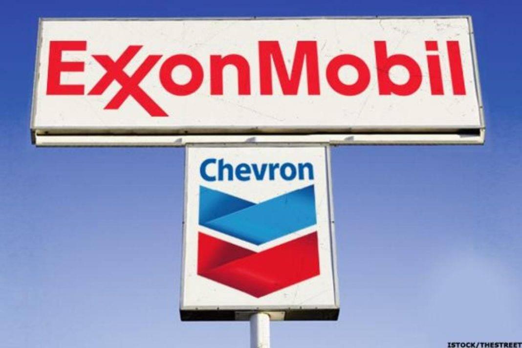 chevron exxon mobil lag crude oil as energy momentum slows