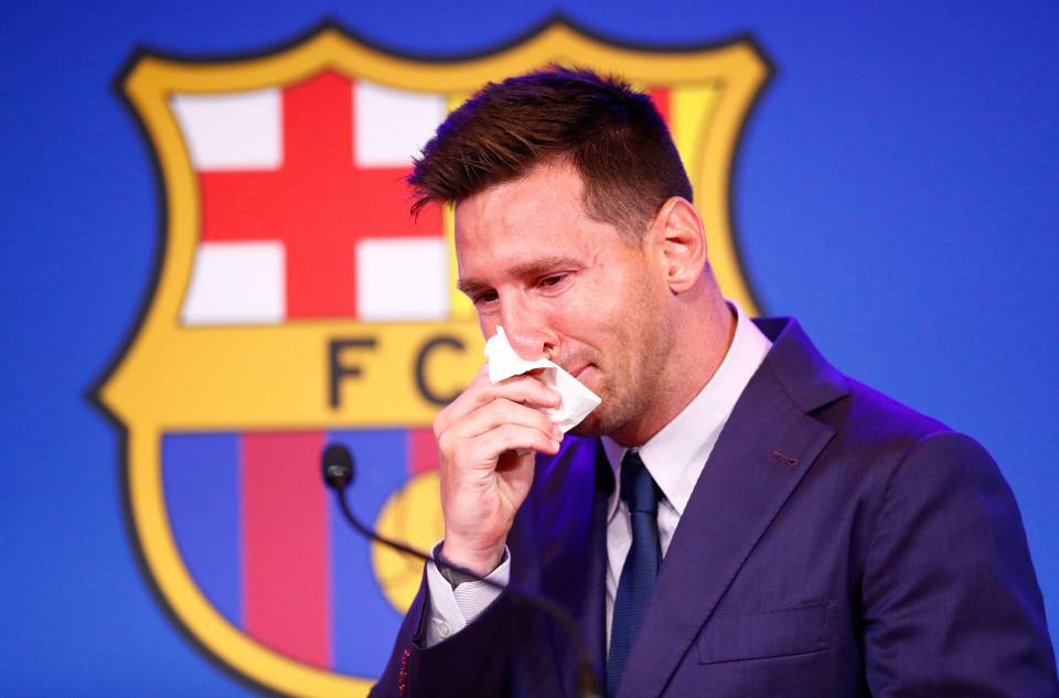 messi cry