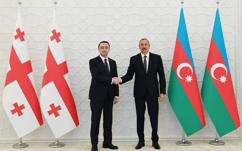 Ilham Əliyev və Irakli Qarabasvilli