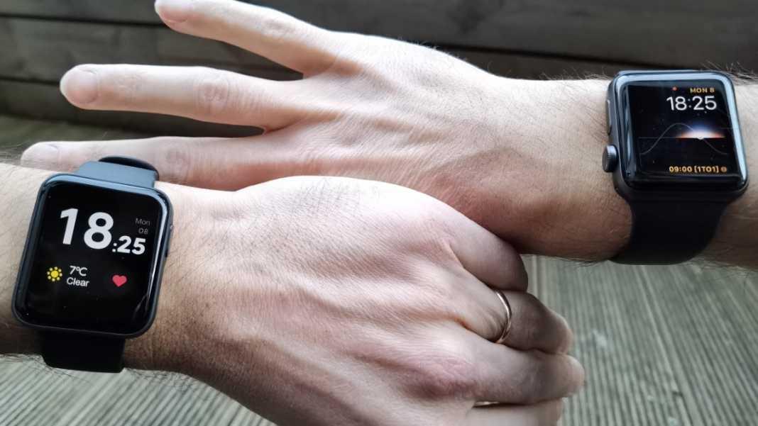 Mi Watch Lite vs Apple Watch large